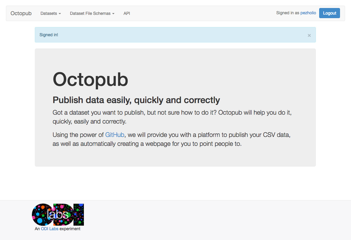 Step 4: You have successfully Authorized Octopub with Github