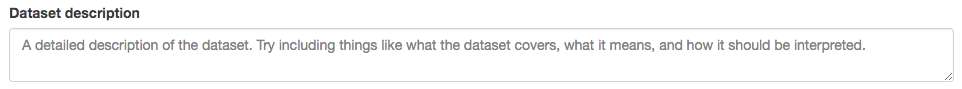 Step 8: Add a description to your dataset